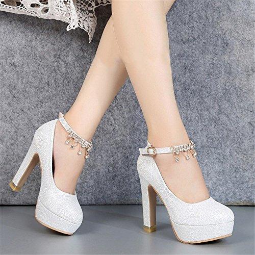Silver Et Crystal Avec Printemps Saison Talons De Nouvelle A Lady Mariée Chaussures Hauts HXVU56546 Chaussures D'Automne q18w64I