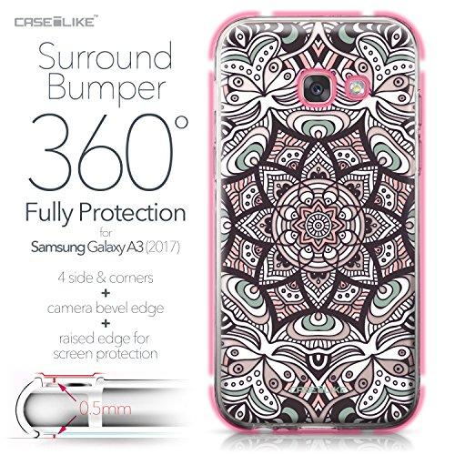 CASEiLIKE Funda Samsung J5 2017 , Carcasa Samsung Galaxy J5 (2017), Arte de la mandala 2090, TPU Gel silicone protectora cover Arte de la mandala 2095