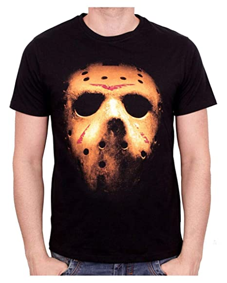 Horror-Shop Camiseta de la máscara de Jason M