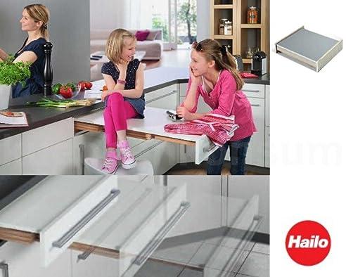 Einbau ausziehtisch küche  Hailo Rapid Ausziehtisch weiß für 60 cm breiten Unterschrank ...
