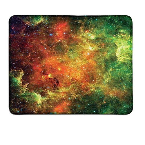 Outer Space small mouse pad North American and Pelican Nebula Gas Cosmic Planetary Object in Outer Spacecustomize mouse pad Orange Green