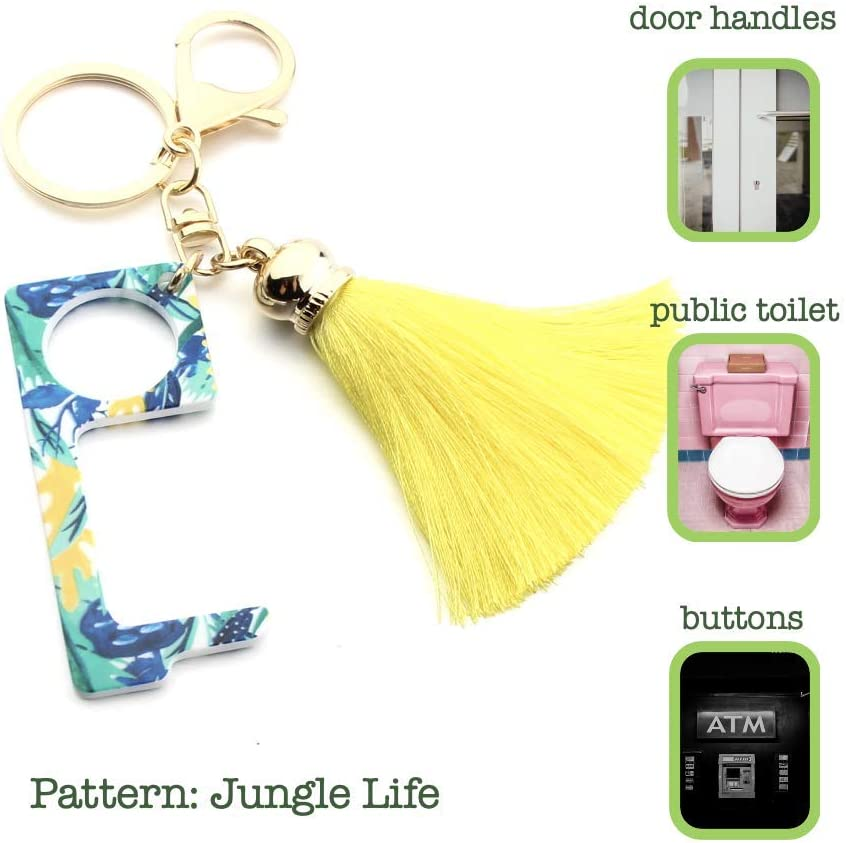 push buttons pull door handles Fashionable KeyChain Safe Touch Tool Blue,Mood for Love etc. open lids