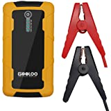 GOOLOO 600A Peak Car Jump Starter (Up to 6.0L Gas or 4.5L Diesel Engine) Portable Phone Power Bank Auto Battery Charger Pack Booster with Dual Quick Charge Output, Built in LED Light, Black/Yellow