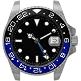 NOLOGO(ノーロゴ) 腕時計 GMTマスター 電池式クォーツ デイト 逆回転防止ベゼル メンズ NL000M [並行輸入品]