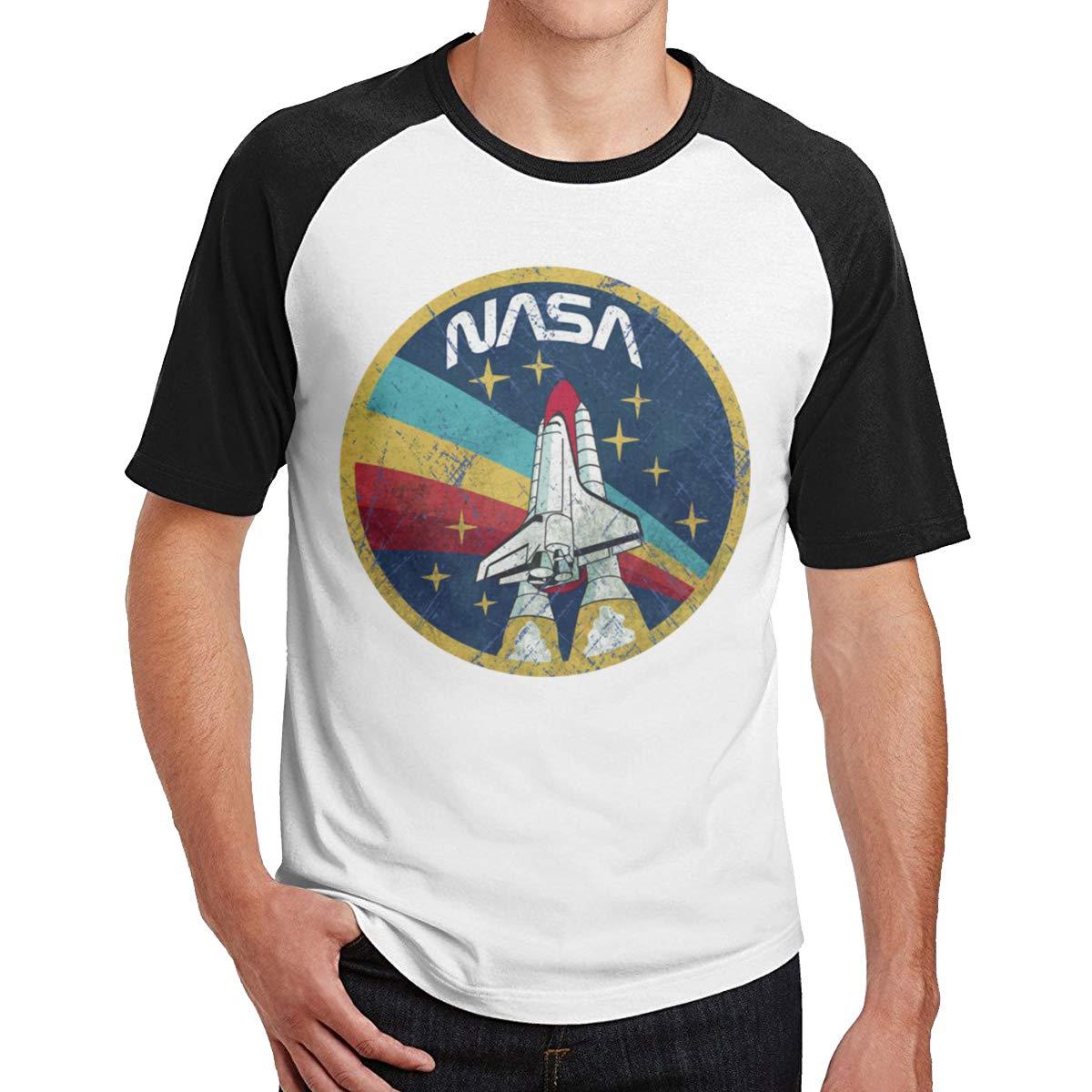Bloonmer Mens Weekend NASA Vintage Short Sleeve Shirts