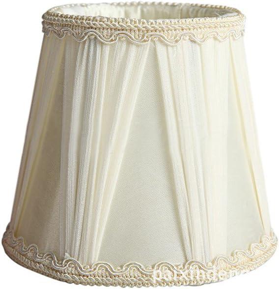 Splink 2pcs Style Europ/éen Clip-on Abat-jour /à Pince en Tissu Handmade pour Bougie Lustre Lampe de Table Applique Mural 85*120*110mm