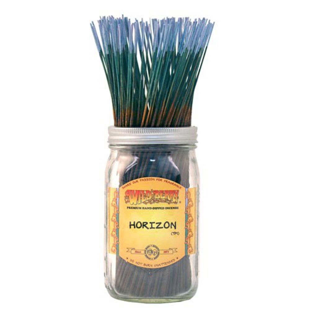 WILDBERRY Horizon, Highly Fragranced Incense Sticks Bulk Pack, 100 Pieces, 11-inch