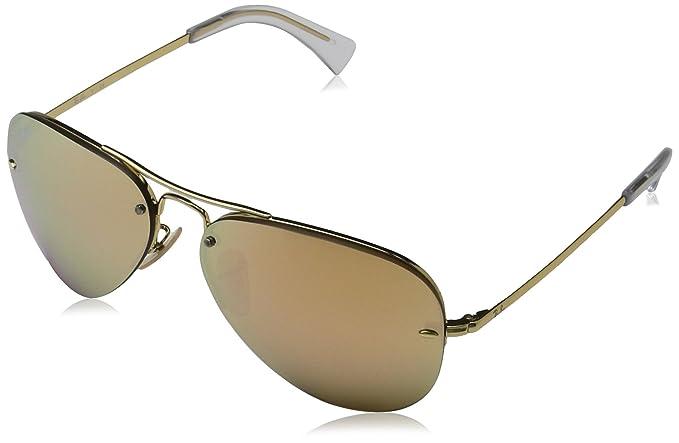 33eb9ec08f Ray-Ban 0RB3449 Aviator anteojos de sol para hombre, Dorado, 59 mm ...