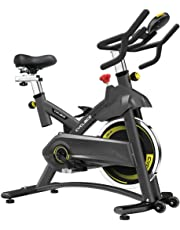 Indoor Exercise Bikes Stationary - Cycling Bike with Adjustable Resistance and LCD Monitor for Home Exercise