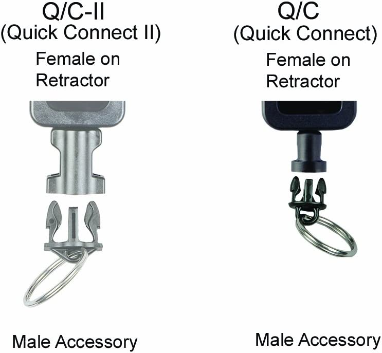 Gear Keeper AC0-0908 Quick Connect Male Adapter 6-Inch Lanyard with Nylon Cord Loop