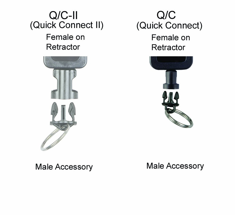 Gear Keeper AC0-0902 Quick Connect Male Adapter with 6-Inch Lanyard and 1-Inch Split Ring