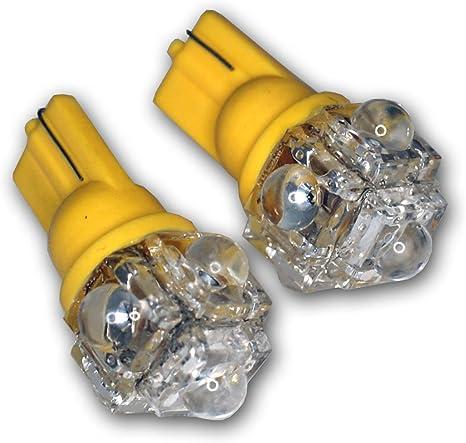 Set of 2 pcs Clock T10 Wedge 5 Flux Red LED Light Bulbs 168 194 1 Pair
