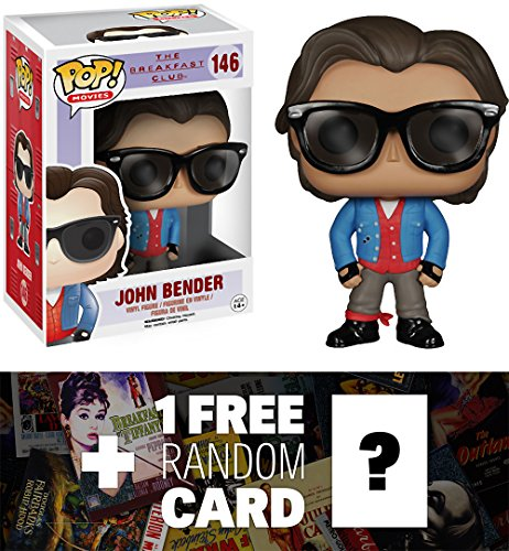 John Bender: Funko POP! x The Breakfast Club Vinyl Figure + 1 FREE Classic Movie Trading Card Bundle [47436]