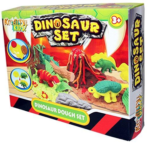 Kids Dough Moulding Modelling Dinosaur Play Set