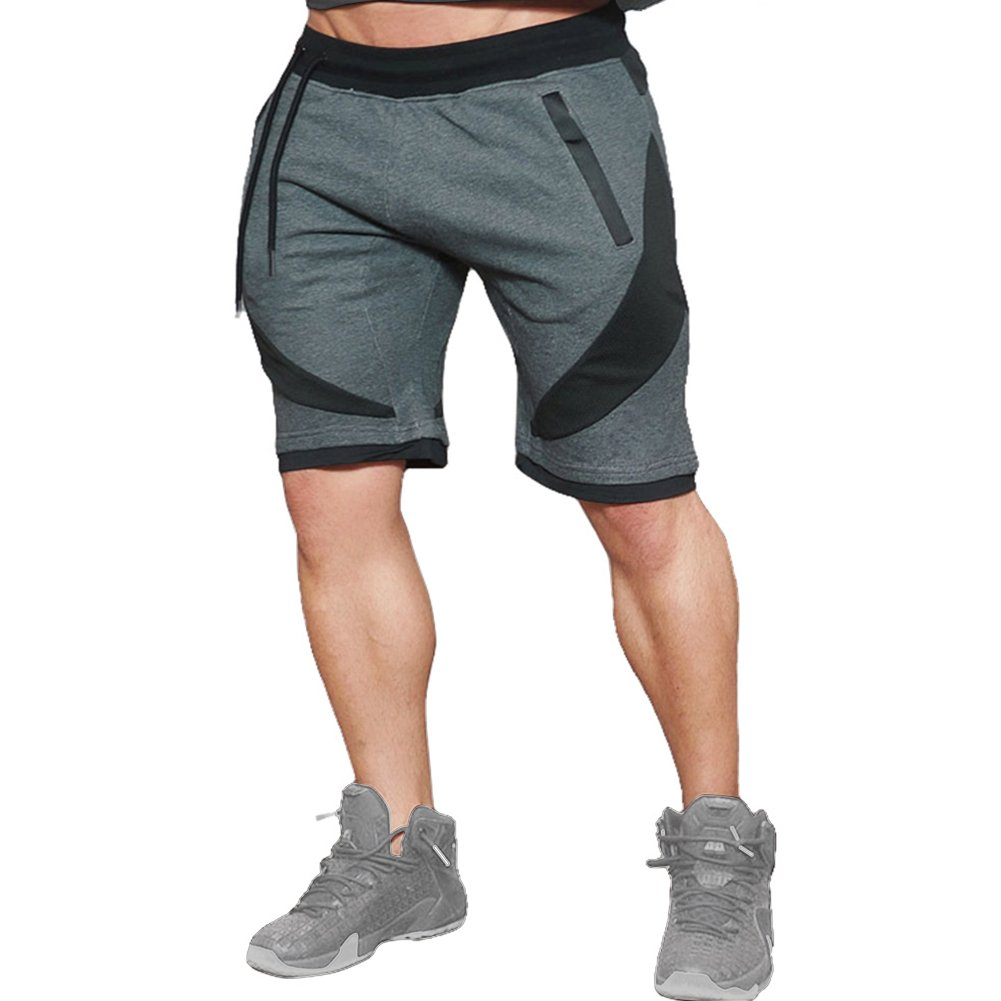 Mech-Eng Men's Gym Workout Jogger Running Bodybuilding Shorts 0613
