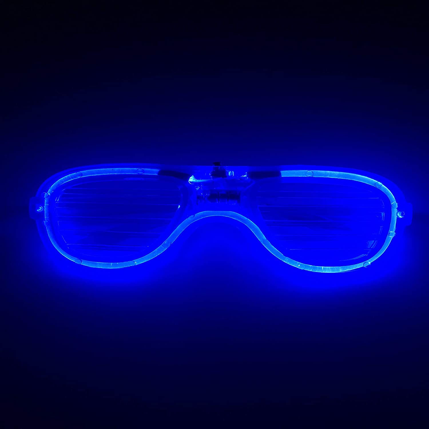 Ithonest led Glasses Party Bulk,led Glasses Focus 3 Modes Glow in The Dark,Neon Lights Flashing Rave in Festival Party and Birthday//Set of 12 Glasses with 2 Packs Backup Batteries.