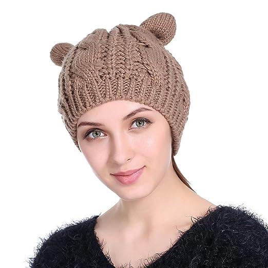 759ff1f03b2 Women Warm Knitted Wool Hats