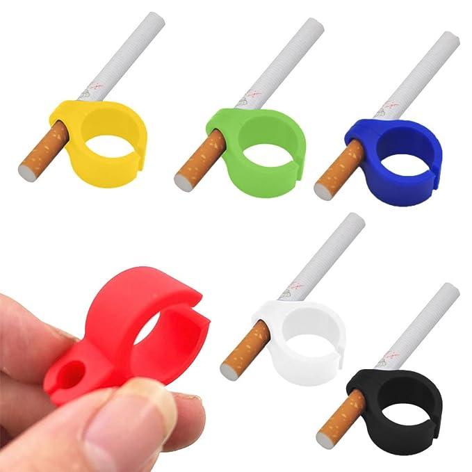 6Pcs Anillo Silicona Dedo Mano Del Cigarrillo Estante Para ...