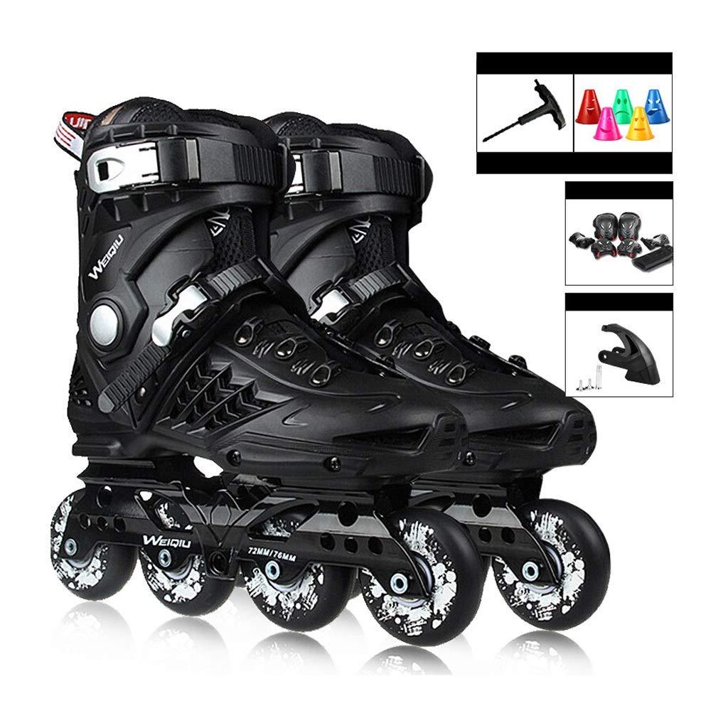 JIANXIN 男性、女性、初心者用スケート、黒に適した青少年の屋外用ローラースケートのための大人のローラーブレード (Size : EU 37)  EU 37