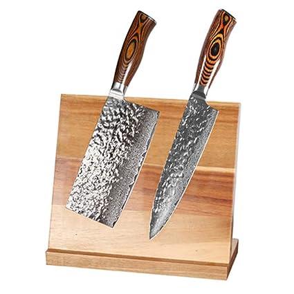 El porta cuchillos magnético no daña el soporte del imán de ...