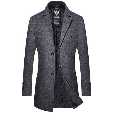Manteau Long en Laine À Manches Longues Trench-Coat Manteau d hiver Parka  Coupe 26e4eebba8b4