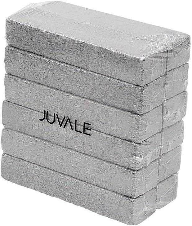 Juvale Piedra pómez para la Limpieza - Paquete de 12 Palos de Piedra pómez para pulir, Cuartos de baño, Piscina, hogar, Gris, 5,9 x 1,4 x 0,9