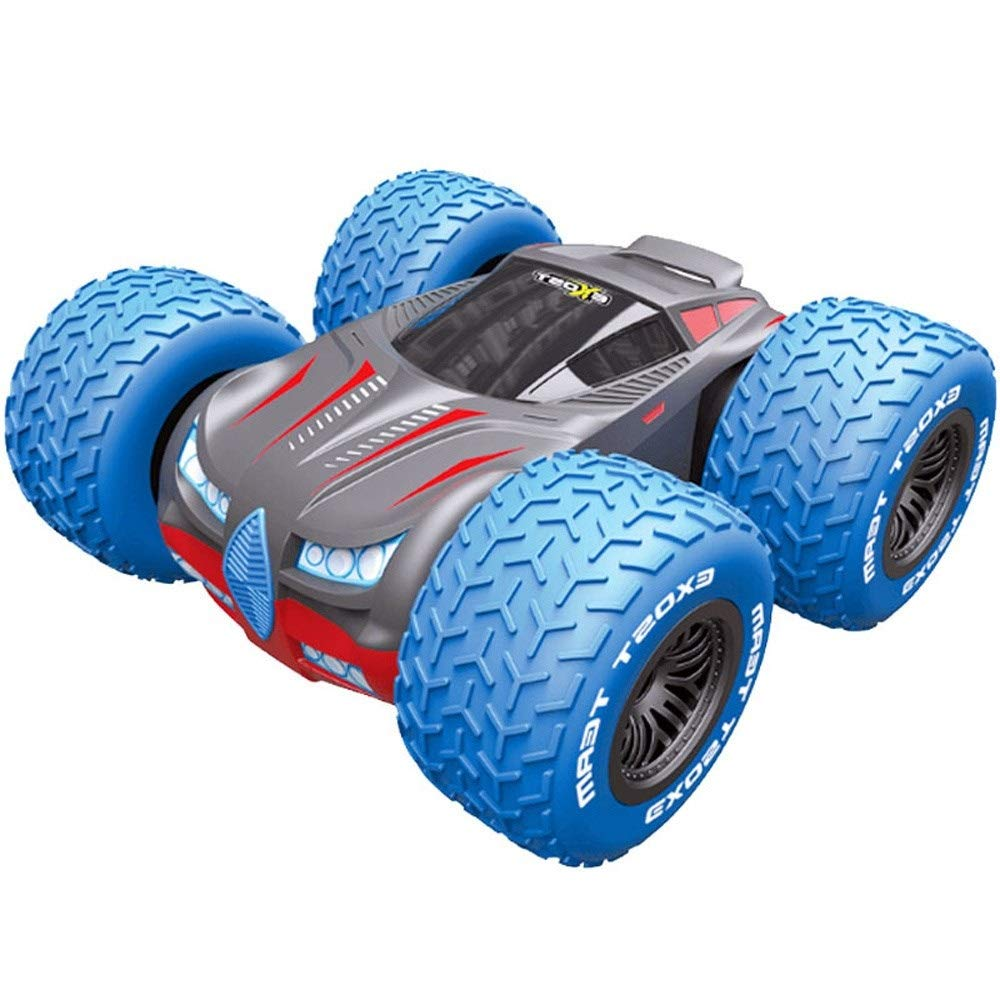 Pinjeer Children's Electric Remote Control Car Toy Creative Intelligent High-Speed Rotating Stunt Racing 360 Degree Tipping Four-Wheel Car Gift Remote Control RC Cars by Pinjeer
