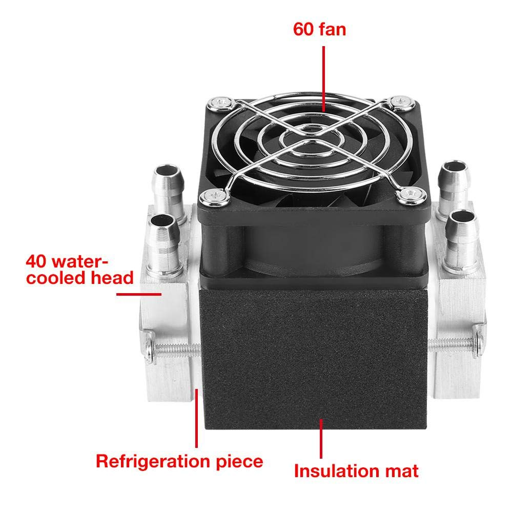 2-chip 12V 240W 15A Electronic Semiconductor Refrigeration Kit DIY Air Cooling System Semiconductor Refrigeration