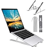 M JJYPET Laptop Stand, Aluminum Computer Holder, Ergonomic Laptops Elevator for Desk, Adjustable Notebook Stand for Laptop Co