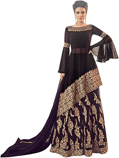 Bollywood Collection Indo Western Sharara Suit Indian Women Salwar Kameez Ceremony Wedding Party Wear Sb At Amazon Women S Clothing Store
