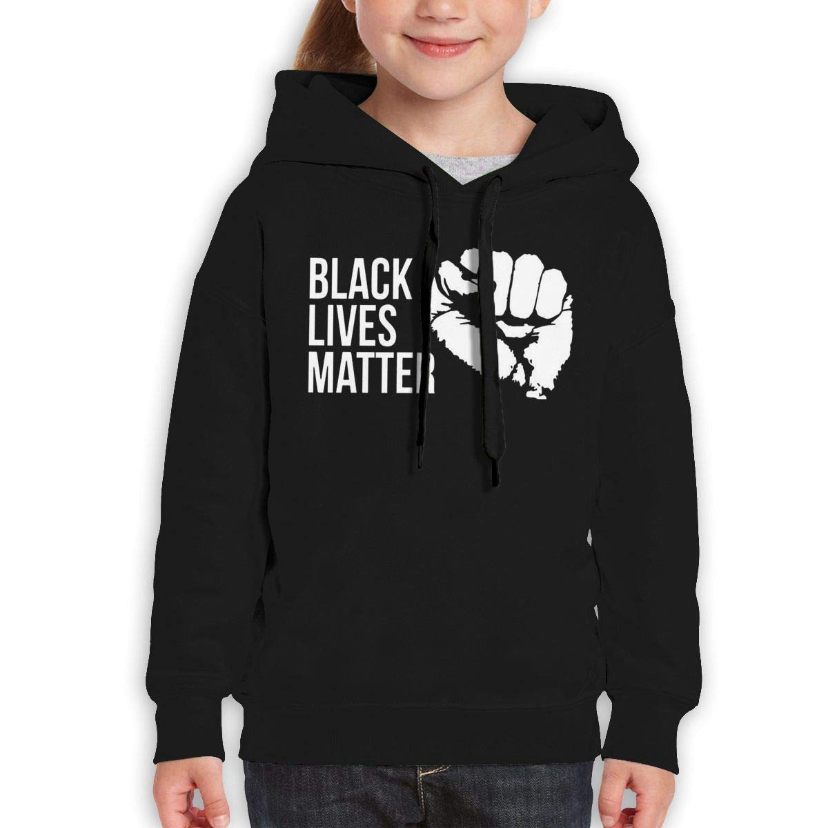 Teen Hooded Sweate Sweatshirt Black Guiping Black Lives Matter 2
