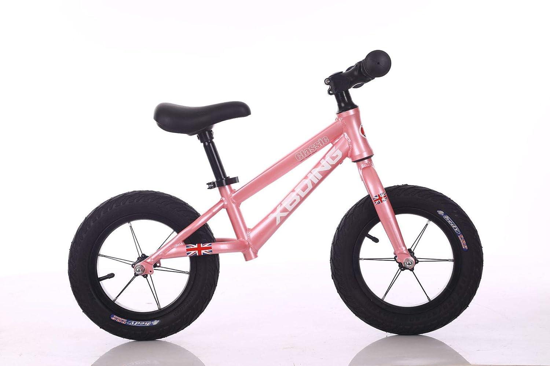 バランスバイク、ノーペダルスポーツトレーニング自転車、エアレス Rubberskin タイヤ付き調整可能なハンドルバーとシートの比類のない機能  pink B07PJP9K3S