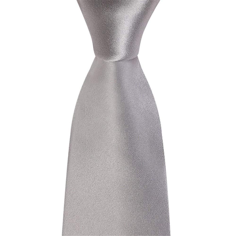 Wangwang454 Corbata De Hombre Formal Corbata Gris 145Cm * 8Cm ...