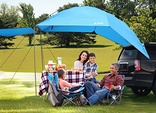 Leader Accessories Easy Set Up Camping SUV Tent/Awning/Canopy/ Sun Shelter Tailgate Tent Beach Tent Suitable For SUV Mini Van Campers RVs Waterproof With Adjustable Sunwall (78.7''x59'') by Leader Accessories (Image #1)