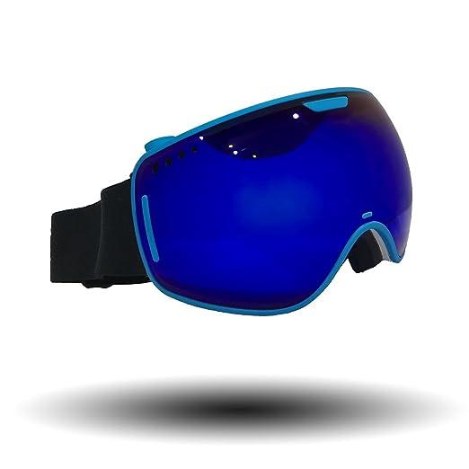 4 opinioni per Hicool Unisex Maschera Snowboard, Occhiali da Sci con Lente Specchio Staccabile,