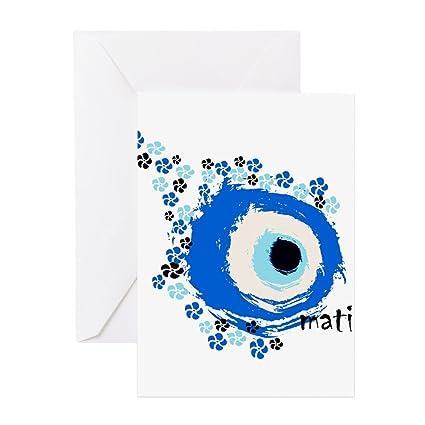 Amazon cafepress mati greek eye greeting card note card cafepress mati greek eye greeting card note card birthday card m4hsunfo