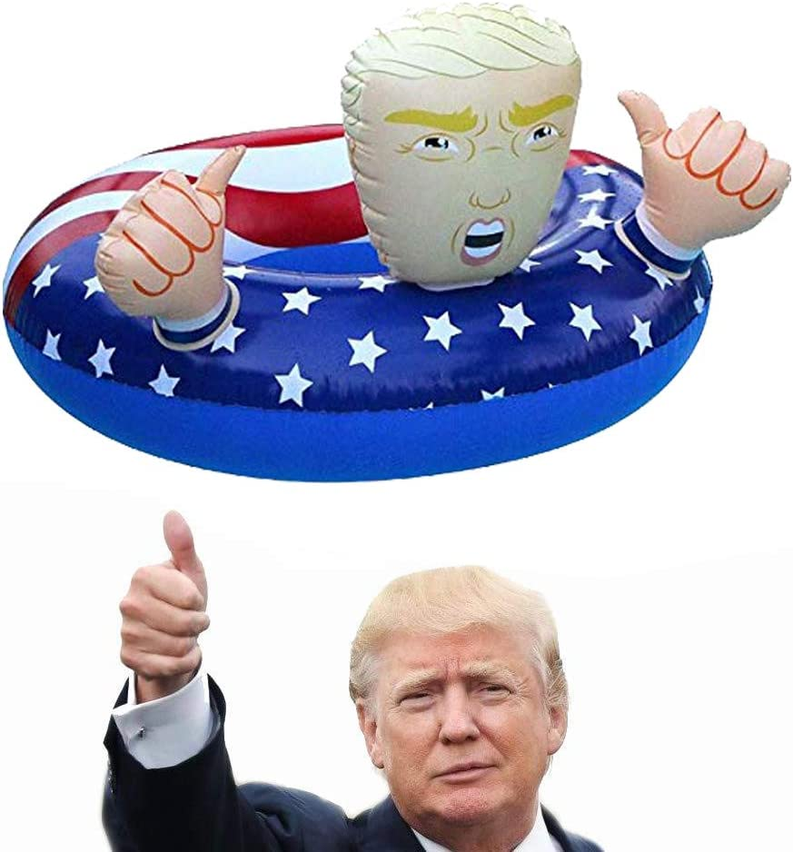 VITORIAS GIFT Donald Trump Pool Float Summer 2019 Swimming Inflatable for The Summer Fun Swimming Floats for Pool Party