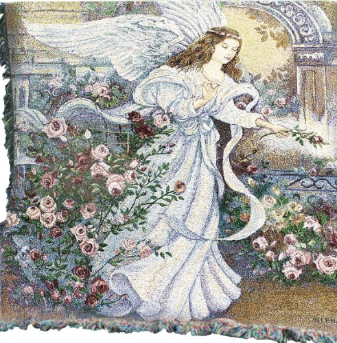 Manual Inspirational Collection 50 x 60-Inch Tapestry Throw, Angel of Love from Manual Woodworker