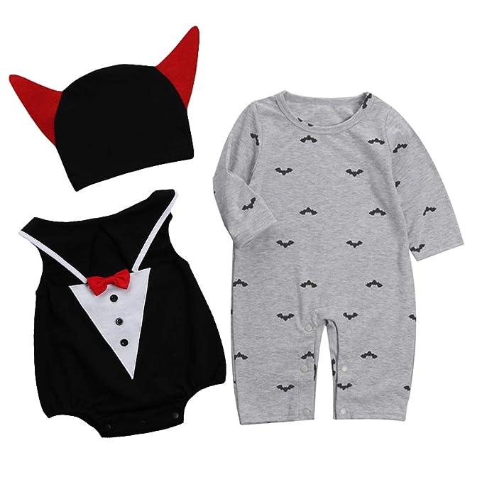 d3f0d3f365b3 Amazon.com  La Vogue Unisex Baby Boys Winter 3pcs Romper Outfit ...