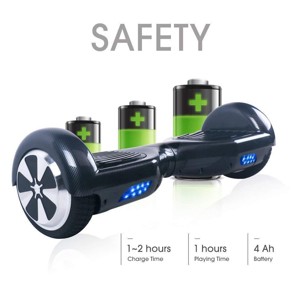 TOEU Hoverboard 6.5 Pulgadas, Self Balancing Scooter Patinete Eléctrico Scooter con Bluetooth, Motor 250W * 2 con Bluetooth CE Certificado (1)