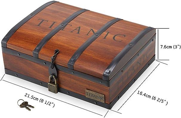 Buythem Titanic Corazón del Mar, Collar con Colgante de Cristal ...