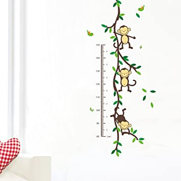 Removable Height Chart Measure Wall Sticker Decal for Kids Baby Room lskn