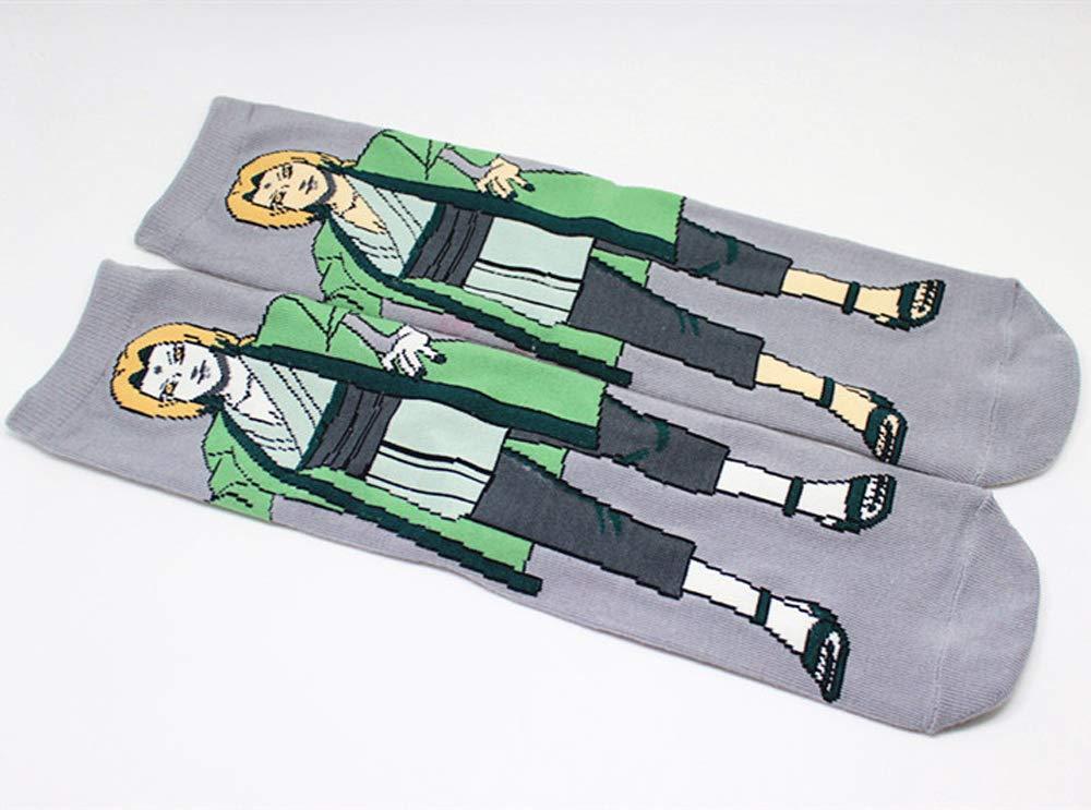 Anime Calze di Cotone Multi Prestazioni Escursioni Trekking Calze Allaperto per Uomo Donna Giapponese Wicking Traspirante 6 Paia Calzini del Cotone del Fumetto
