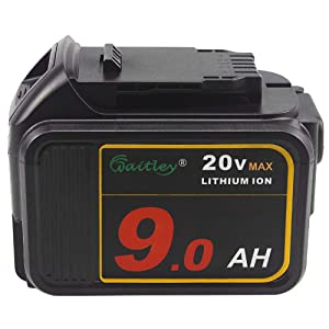 TenMoer 20V 9.0ah DCB200 Replacement Battery with LED Indicator Compatible with Dewalt 20V DCB205 DCB206 DCB204 Cordless Tools