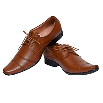 585f05ec6e21 HOSF Men s Brown Formal Shoes   Buy Online at Low Prices in India -  Amazon.in