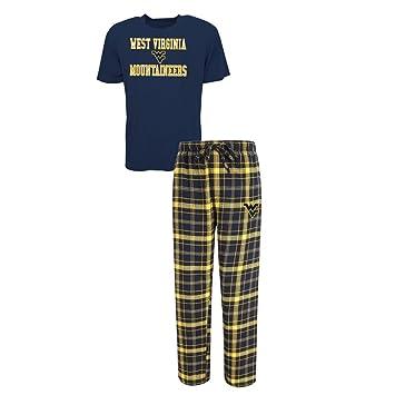 Hombres West Virginia montañeros pijamas de pijama camiseta y pantalones de Set, Color del equipo