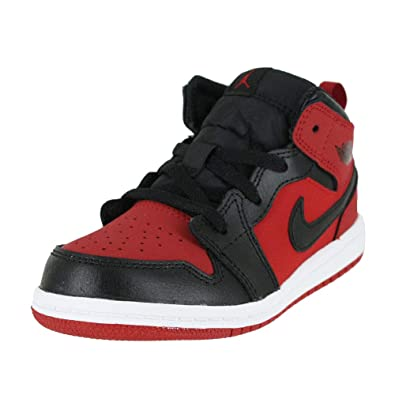 best selling fashion style in stock NIKE Jordan 1 MID (TD) Baby-Boys Fashion-Sneakers 640735-610_10C - Gym  RED/Black-White