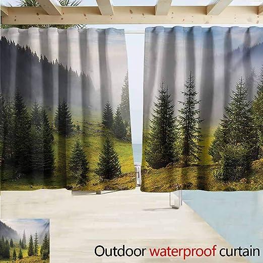 Zmacdk Forest - Cortinas de Porche con diseño de Hojas de Arce ...