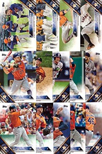 14 Card Set George Springer Luke Gregerson and more! Includes Jose Altuve Evan Gattis 2016 Topps Series 1 Houston Astros Baseball Card Team Set