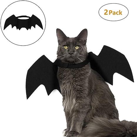 SUMSEA 2 alas de murciélago para Gato, Disfraz de murciélago para ...
